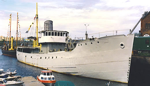 BORGENES in 1991 after two years of internal and external cleanup, sanblasting and painting.