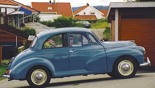 Greased Lightning - Olaf Engvig's first Morris Minor.