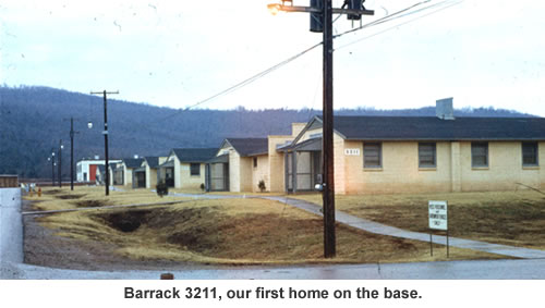 Barrack 3211, our first home on the base.